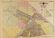 Plate 13, Minnesota Ave. - Washington DC 1921 Atlas Old Map Reprint - Baist Vol.4