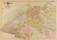 Plate 18, Ellicott Circle - Washington DC 1921 Atlas Old Map Reprint - Baist Vol.4
