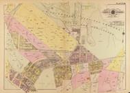 Plate 23, Portland St. - Washington DC 1921 Atlas Old Map Reprint - Baist Vol.4