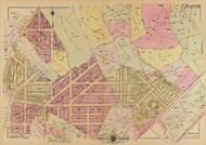 Plate 25, Bellevue Circle - Washington DC 1921 Atlas Old Map Reprint - Baist Vol.4