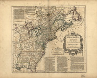 North America, 1768 - Old Map Reprint - USA Jefferys 1768 Atlas 2