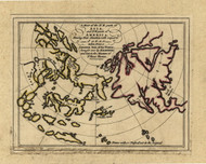 Northeast Asia and Northwest America, 1768 - Old Map Reprint - USA Jefferys 1768 Atlas 5