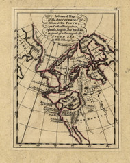 Discoveries in quest of South Sea passage, 1768 - Old Map Reprint - USA Jefferys 1768 Atlas 6