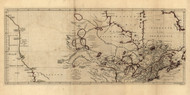 Canada and the Northern part of Louisiana, 1762 - Old Map Reprint - USA Jefferys 1768 Atlas 8