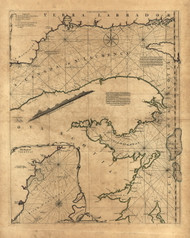 St Lawrence River - Nova Scotia, 1768 - Old Map Reprint - USA Jefferys 1768 Atlas 10