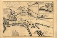 Siege of Quebec, 1759 - Old Map Reprint - USA Jefferys 1768 Atlas 11