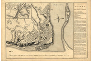 Quebec City plan, 1758 - Old Map Reprint - USA Jefferys 1768 Atlas 11x