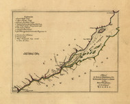 St Lawrence River - taking of Quebec, 1768 - Old Map Reprint - USA Jefferys 1768 Atlas 13