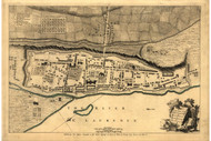 Montreal, 1760 - Old Map Reprint - USA Jefferys 1768 Atlas 14
