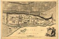Montreal, 1760 - Old Map Reprint - USA Jefferys 1768 Atlas 14