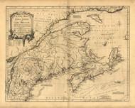 Nova Scotia and Cape Britain, 1755 - Old Map Reprint - USA Jefferys 1768 Atlas 15