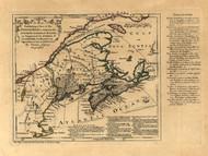 Maritime Provinces - English Text, 1768 - Old Map Reprint - USA Jefferys 1768 Atlas 17