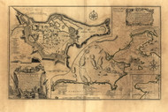 Cape Breton - Louisburg, 1758 - Old Map Reprint - USA Jefferys 1768 Atlas 18