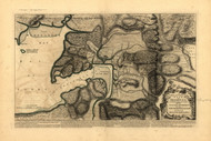 Shegnekto Bay & Surrounding Country, 1755 - Old Map Reprint - USA Jefferys 1768 Atlas 19