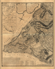 City of New York and its Environs, 1768 - Old Map Reprint - USA Jefferys 1768 Atlas 25
