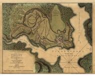 Fort Carillon at Ticonderoga, 1758 - Old Map Reprint - USA Jefferys 1768 Atlas 26
