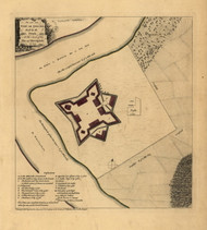 Fort Le Quense - Pittsburgh, 1754 - Old Map Reprint - USA Jefferys 1768 Atlas 3
