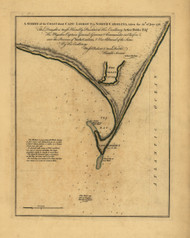 Cape Lookout - North Carolina, 1756 - Old Map Reprint - USA Jefferys 1768 Atlas 35