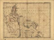 Pais Cedes part 2 - Peninsula and Gulf of Florida, Bahama Islands, 1768 - Old Map Reprint - USA Jefferys 1768 Atlas 41
