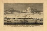 Pensacola - North View, 1768 - Old Map Reprint - USA Jefferys 1768 Atlas 42a