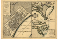 New Orleans and Mouth of Mississippi River, 1768 - Old Map Reprint - USA Jefferys 1768 Atlas 43
