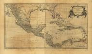 West Indies - English, French, Spanish, Dutch, & Danish Settlements, 1758 - Old Map Reprint - USA Jefferys 1768 Atlas 44
