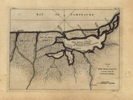 Port Royal Laguna - Logwood Creeks, 1768 - Old Map Reprint - USA Jefferys 1768 Atlas 48