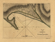 San Fernando do Omoa - Harbour, 1768 - Old Map Reprint - USA Jefferys 1768 Atlas 49