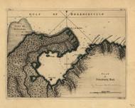 Zisapata Bay, Columbia, 1768 - Old Map Reprint - USA Jefferys 1768 Atlas 53