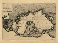 Carthagena Harbor, Columbia, 1768 - Old Map Reprint - USA Jefferys 1768 Atlas 54