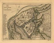 Carthagena City, Columbia, 1768 - Old Map Reprint - USA Jefferys 1768 Atlas 55