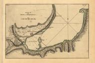 Bay of Matanzas, Cuba, 1768 - Old Map Reprint - USA Jefferys 1768 Atlas 61