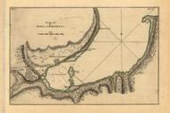 Bay of Matanzas, Cuba, 1768 - Old Map Reprint - USA Jefferys 1768 Atlas 61