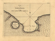 Puerto de Baracoa, Cuba, 1768 - Old Map Reprint - USA Jefferys 1768 Atlas 63