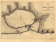 Bahia Xagua - south side of Cuba, 1768 - Old Map Reprint - USA Jefferys 1768 Atlas 66