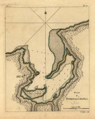 Puerto do Canavas, Cuba, 1768 - Old Map Reprint - USA Jefferys 1768 Atlas 69