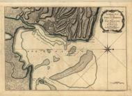 Cap-Francois, St Domingo, 1768 - Old Map Reprint - USA Jefferys 1768 Atlas 73