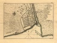 San Domingo City, 1768 - Old Map Reprint - USA Jefferys 1768 Atlas 74