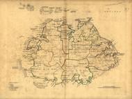 Antigua Island, 1768 - Old Map Reprint - USA Jefferys 1768 Atlas 79