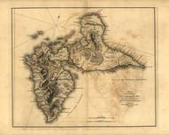 Guadaloupe Island, 1768 - Old Map Reprint - USA Jefferys 1768 Atlas 80