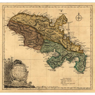Martinico (Martinique) Island, 1768 - Old Map Reprint - USA Jefferys 1768 Atlas 86