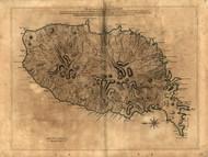 Grenada Island, 1763 - Old Map Reprint - USA Jefferys 1768 Atlas 89