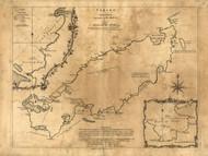 Tobago Island, 1768 - Old Map Reprint - USA Jefferys 1768 Atlas 90