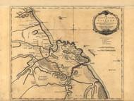 Cayenne Island and Colony - South America, 1768 - Old Map Reprint - USA Jefferys 1768 Atlas 91