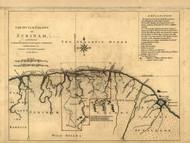 Surinam - Dutch Colony, 1768 - Old Map Reprint - USA Jefferys 1768 Atlas 93