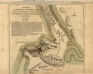 Fort Penobscot, Maine - Rebel Attack, 1768 - Old Map Reprint - USA Jefferys 1768 Atlas 94x