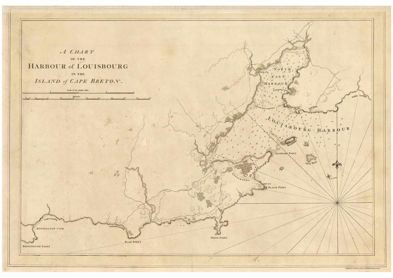 Cape Breton Island - Barbor of Louisbourg, 1781 - USA Regional DB v.2 on nova scotia map, bay of fundy map, dallas island map, cayo costa island map, labrador island map, devon island map, pleasant bay map, st. paul island map, baffin island map, laurentian mountains map, st. catharines map, canada map, atlantic provinces map, ottawa island map, aurora island map, gloucester island map, cabot trail map, snake island map, peggy's cove map, island nautical map,