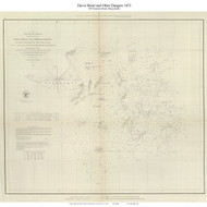 Davis Shoal and other Dangers, 1853 - Old Map Reprint - USA Regional 1854 Coast Survey