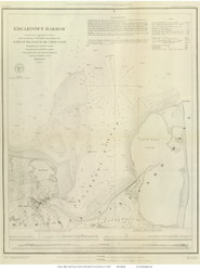 Edgartown Harbor, 1848 - Old Map Reprint - USA Regional 1854 Coast Survey