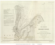 Holmes Hole, 1847 - Old Map Reprint - USA Regional 1854 Coast Survey